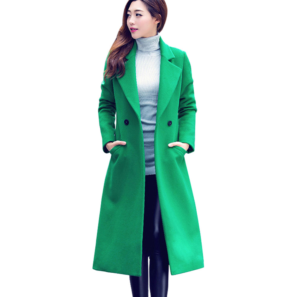 stylish women ladies solid long sleeve business formal